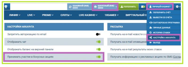 Бонусная программа 1xBet в России сегодня